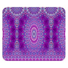 India Ornaments Mandala Pillar Blue Violet Double Sided Flano Blanket (Small)