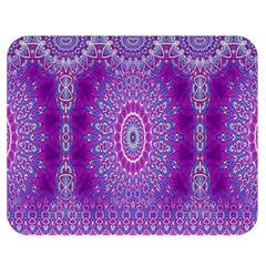 India Ornaments Mandala Pillar Blue Violet Double Sided Flano Blanket (medium)