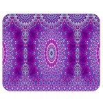 India Ornaments Mandala Pillar Blue Violet Double Sided Flano Blanket (Medium)  60 x50 Blanket Back