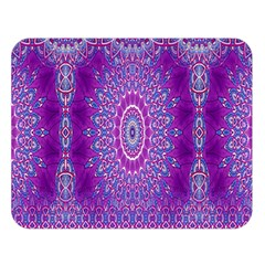 India Ornaments Mandala Pillar Blue Violet Double Sided Flano Blanket (Large)