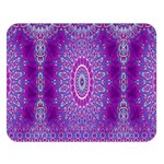 India Ornaments Mandala Pillar Blue Violet Double Sided Flano Blanket (Large)   Blanket Back