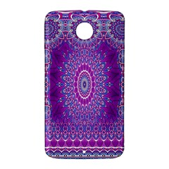 India Ornaments Mandala Pillar Blue Violet Nexus 6 Case (White)