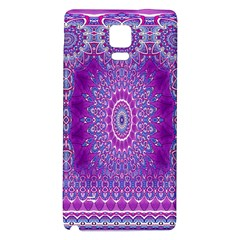 India Ornaments Mandala Pillar Blue Violet Galaxy Note 4 Back Case