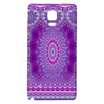 India Ornaments Mandala Pillar Blue Violet Galaxy Note 4 Back Case Front