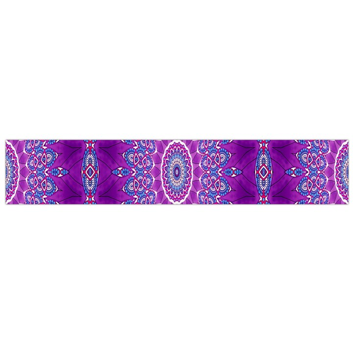 India Ornaments Mandala Pillar Blue Violet Flano Scarf (Large)