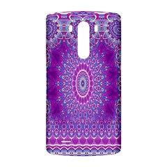India Ornaments Mandala Pillar Blue Violet LG G3 Back Case