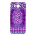 India Ornaments Mandala Pillar Blue Violet Samsung Galaxy Alpha Hardshell Back Case Front