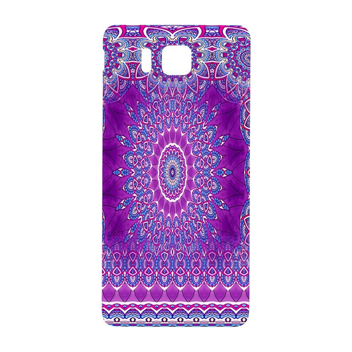 India Ornaments Mandala Pillar Blue Violet Samsung Galaxy Alpha Hardshell Back Case