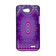 India Ornaments Mandala Pillar Blue Violet LG L90 D410