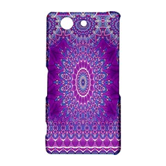 India Ornaments Mandala Pillar Blue Violet Sony Xperia Z3 Compact
