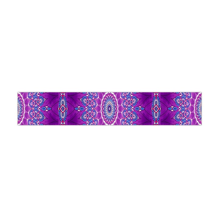 India Ornaments Mandala Pillar Blue Violet Flano Scarf (Mini)
