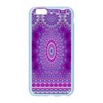India Ornaments Mandala Pillar Blue Violet Apple Seamless iPhone 6/6S Case (Color) Front