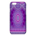 India Ornaments Mandala Pillar Blue Violet iPhone 6/6S TPU Case Front