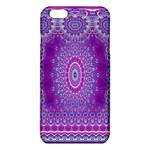 India Ornaments Mandala Pillar Blue Violet iPhone 6 Plus/6S Plus TPU Case Front