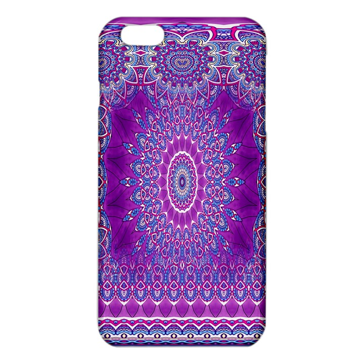 India Ornaments Mandala Pillar Blue Violet iPhone 6 Plus/6S Plus TPU Case