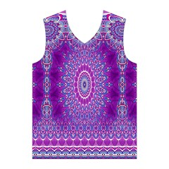 India Ornaments Mandala Pillar Blue Violet Men s Basketball Tank Top
