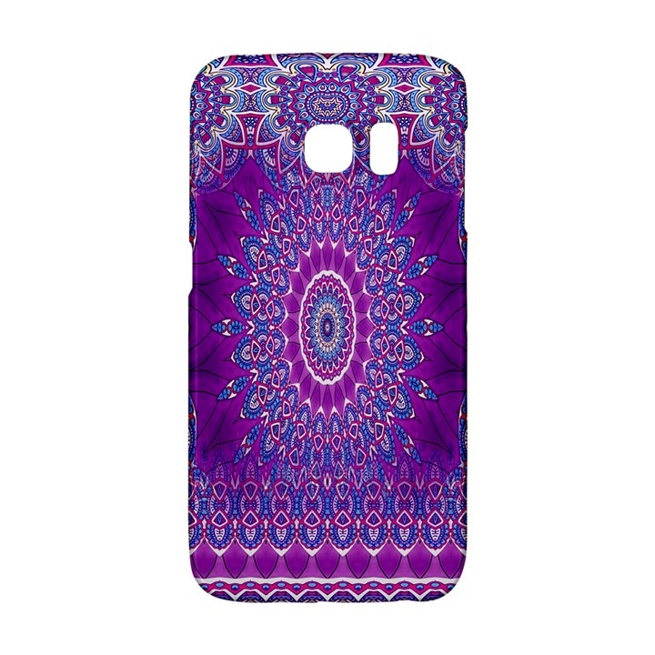 India Ornaments Mandala Pillar Blue Violet Galaxy S6 Edge