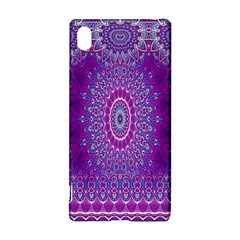 India Ornaments Mandala Pillar Blue Violet Sony Xperia Z3+