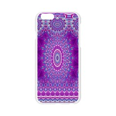 India Ornaments Mandala Pillar Blue Violet Apple Seamless iPhone 6/6S Case (Transparent)