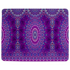 India Ornaments Mandala Pillar Blue Violet Jigsaw Puzzle Photo Stand (Rectangular)