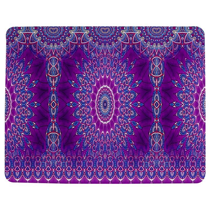 India Ornaments Mandala Pillar Blue Violet Jigsaw Puzzle Photo Stand (Rectangular)