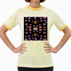 Alphabet Shirtjhjervbret (2)fvgbgnhlluuii Women s Fitted Ringer T Shirts