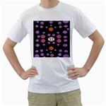 Alphabet Shirtjhjervbret (2)fvgbgnhlluuii Men s T-Shirt (White) (Two Sided) Front