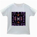 Alphabet Shirtjhjervbret (2)fvgbgnhlluuii Kids White T-Shirts Front