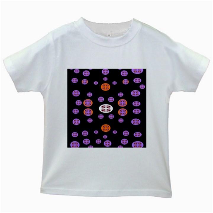 Alphabet Shirtjhjervbret (2)fvgbgnhlluuii Kids White T-Shirts