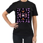 Alphabet Shirtjhjervbret (2)fvgbgnhlluuii Women s T-Shirt (Black) (Two Sided) Front