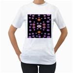 Alphabet Shirtjhjervbret (2)fvgbgnhlluuii Women s T-Shirt (White)  Front
