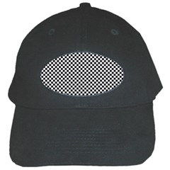 Sports Racing Chess Squares Black White Black Cap