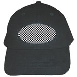 Sports Racing Chess Squares Black White Black Cap Front