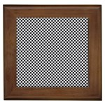 Sports Racing Chess Squares Black White Framed Tiles Front