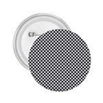 Sports Racing Chess Squares Black White 2.25  Buttons Front