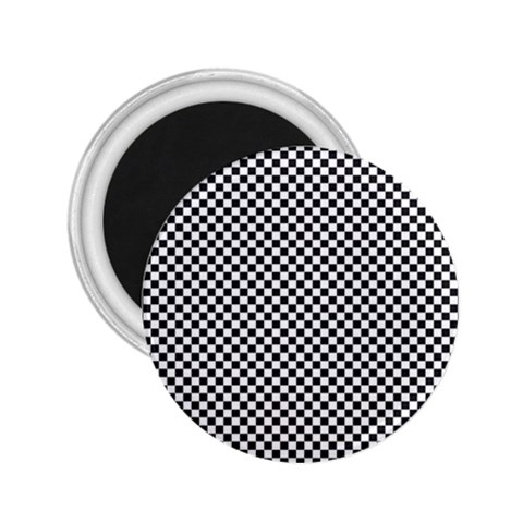 Sports Racing Chess Squares Black White 2.25  Magnets