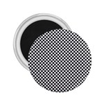 Sports Racing Chess Squares Black White 2.25  Magnets Front
