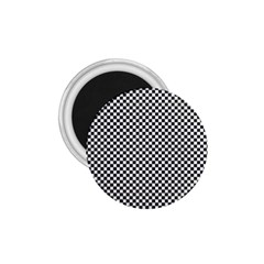 Sports Racing Chess Squares Black White 1.75  Magnets