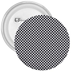 Sports Racing Chess Squares Black White 3  Buttons