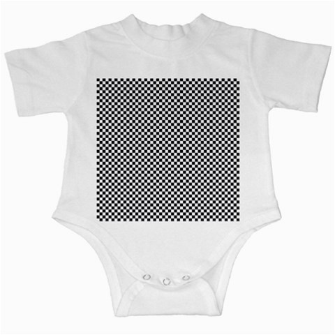 Sports Racing Chess Squares Black White Infant Creepers