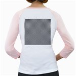 Sports Racing Chess Squares Black White Girly Raglans Back