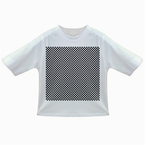 Sports Racing Chess Squares Black White Infant/Toddler T-Shirts