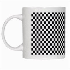 Sports Racing Chess Squares Black White White Mugs