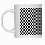Sports Racing Chess Squares Black White White Mugs Left