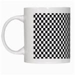 Sports Racing Chess Squares Black White White Mugs Left