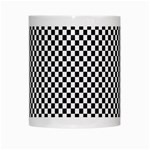 Sports Racing Chess Squares Black White White Mugs Center