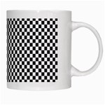 Sports Racing Chess Squares Black White White Mugs Right