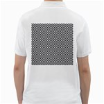 Sports Racing Chess Squares Black White Golf Shirts Back