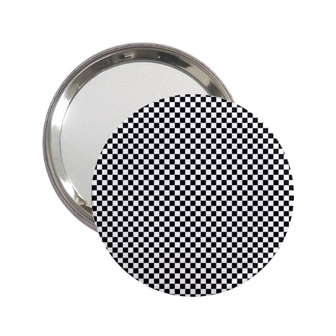 Sports Racing Chess Squares Black White 2.25  Handbag Mirrors