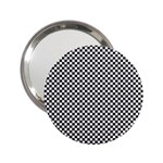 Sports Racing Chess Squares Black White 2.25  Handbag Mirrors Front